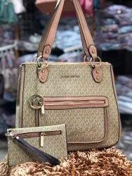 Printed Handbags Michael Kors Handbag, For Office, Size: H-12inch W-13inch