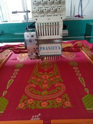 Embroidery Job Work On Saree, With blouse piece, 5.2 m (separate blouse piece)