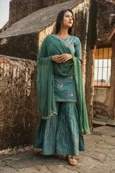 Kurta Set With Embroidery - Single And Sets Wise