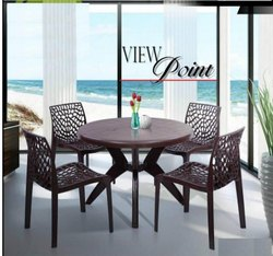 Plastic Standard Web Chairs with Marina Dining Table for Restaurant