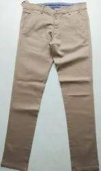Slim Fit Men Dobby Cotton Trouser