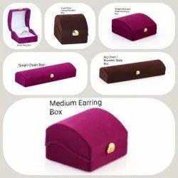 Blue Dome Velvet Flock Box