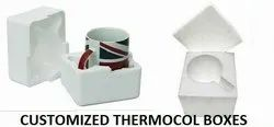 White Normal EPS Thermocol coffee mug box, For Packaging