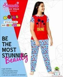 As pic 10 Colors & Designs Girls Pyjama Set, Size: 24-32