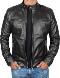 Full Sleeve Casual Jackets Mens Leather Jacket, Size: XL