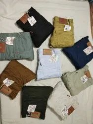 Solid Cotton And Nitted Multi Colour Trouser, Size: 28 To 36