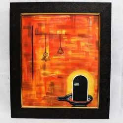 Glass Wooden Painting, Size: 10