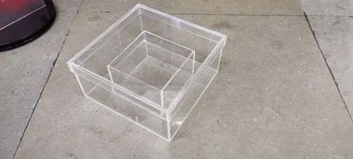 Acrylic box fabrication, Mumbai, Thickness: 3mm