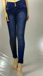 Curvature Skinny Ladies Poly Denim Stretchable Jeans, Waist Size: 28 - 36