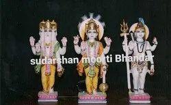 Brahma Vishnu Mahesh Marbles Moorties