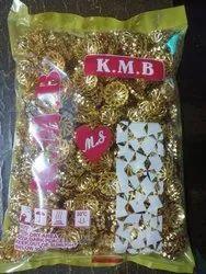 Round Golden Plastic Beads