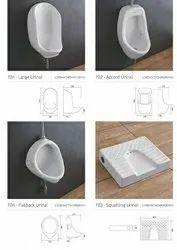 White Ceramic Urinal, For Bathroom