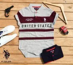 Cotton Black Us Polo T Shirts