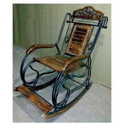 Woodrn and wrought Iron Rocking chair