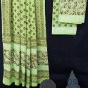 Bagru Hand Block Printed Cotton Dress Material With Dupatta