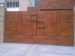Mild Steel Black Hpl Gate, Size: 9x6