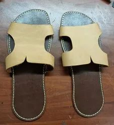 Casual Brown Mens Leather Sandals
