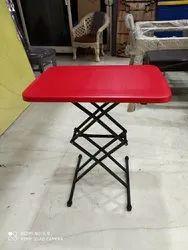 Plastic top with Metal base Brown Supreme Folding Table
