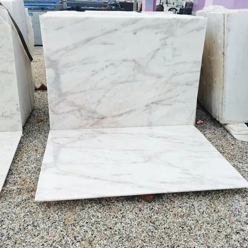 Polished Finish Italian Marble Wonder White Marbles, Slab, Thickness: 10-15 mm