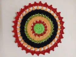 Red Handmade crochet Table Mats, Size: 420