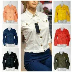 Collar Neck Ladies Cotton Jacket