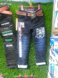 Denim Party Wear Kids Jeans Pant, Size: 32 To 40, Machine wash