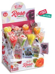 Multi Flavor Sugar Candy Zubi Lollipop, Packaging Type: Box, Outer