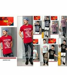 15 To 45 Casual Wear Cotton Printed T Shirts, Size: S, M & L