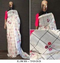 Chanderi Cotton Saree, 6.3 M
