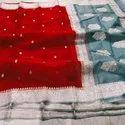 Handloom Khadi Georgette Banarasi Silk Saree