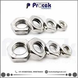 Hexagonal STAINLESS STEEL HEX LOCK NUT, Thickness: 5mm, Size: 8mm