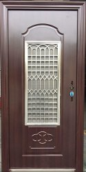 MS Galvanized Heat Treament Paint Entrance Steel Doors, For Home and Office