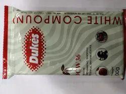 Rectangular Dukes White Chocolate Slab 500 Gms