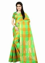 Party Wear Embroidered Silk Saree, 5.5 m (separate blouse piece)