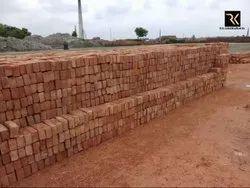 Clay Rectangular Red Bricks, Size: 9