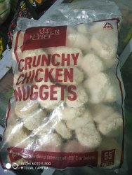 ITC Deep Fry Frozen Chicken Nuggets, Packaging Type: Pollybag