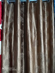 D Decor Long Crush Punching Curtains, For Door