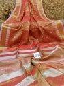 Handloom Tissue Linen Ball Buta Sarees