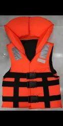 Polyester Orange Life Jacket, For Water Rescue safety lifejacket