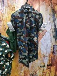 Shirt Navy Print