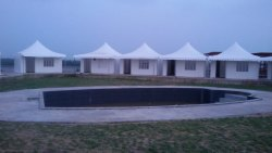 Multicolor PVC Glamping Pagoda Tents, Size: Various Sizes Available