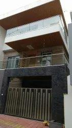 Pipe Aluminum Glass Balcony Railing