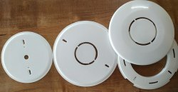 PVC White Modular Fan Plate, Thickness: Slim