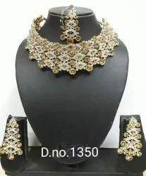 Necklace Golden Gold Plated Imitation Jewellery
