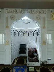 White Carved Marble Masjid Qibla