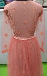 Multicolor Ladies Net Gowns