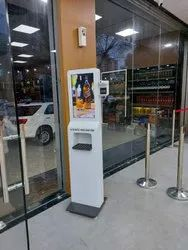 in Office Area Digital Sanitizer Standee Kiosk With Temperature Scanner RENTALS