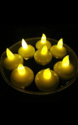 Flower Round LED Floating Candles