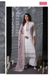 Multicolor Chiffon Embroidery Suits