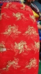 Red High Level Net embroidery buta work